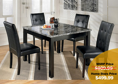 Maysville Square 5 Piece Dinette Set