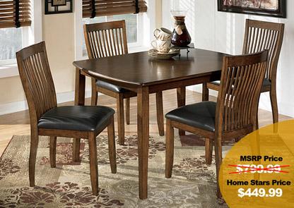 Etonnant Stuman Dining Table W/ 4 Chairs