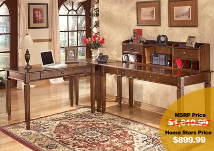 Hamlyn L-Shaped Desk w/ Hutch