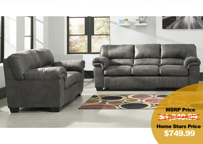 Charming Bladen Slate Sofa And Loveseat