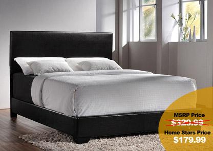 Black & Black Queen Bed